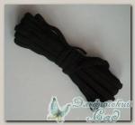 Тесьма плетеная эластичная (черный) 6 мм, 10 м