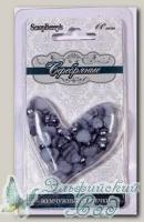 Жемчужные сердечки (серебряные) 60 шт SCB0717518