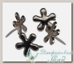 Клипсы (брадс) *Цветок серебристый* 7835522 Rayher, d=12 мм, 50 шт