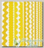 Набор бумажных лент Just the Edge 1, Bazzill Basics, 20 шт (302739 желтый)