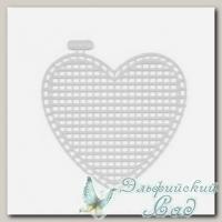 Пластиковая канва *Сердце малое* Gamma KPL-05 7х8 см