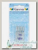 Иглы для швейных машин бытовых GAMMA NJ №110 для джинсы 5 шт
