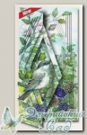Набор для создания открытки с объемным рисунком *Воробей в чернике*, Reddy
