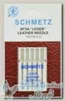 Иглы для бытовых швейных машин для кожи ассорти Schmetz № 80-100, 5 шт