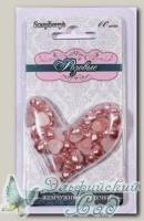 Жемчужные сердечки (розовые) 60 шт SCB0717218
