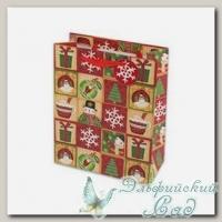 NVBS Подарочный пакет *Снеговики и снежинки* Stilerra 18x23x10 см