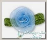 Декоративные элементы *Цветок* (синий) FL065 10 шт