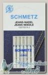 Иглы для бытовых швейных машин для джинсы Schmetz № 110, 5 шт
