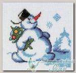 КЛАРТ Набор для вышивания 6-079 *Снеговик с елкой*
