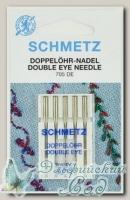 Иглы для бытовых швейных машин с двумя ушками для декоративных работ Schmetz № 80, 5 шт