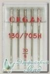 Иглы ORGAN для бытовых швейных машин - универсальные № 70, 5 шт