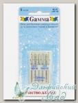 Иглы для швейных машин бытовых GAMMA NJ-5 №90-100 для джинсы ассорти 5 шт