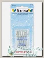 Иглы для швейных машин бытовых GAMMA NU-5 №70-100 универсальные ассорти 5 шт