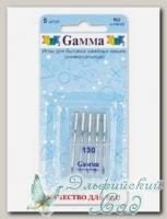 Иглы для швейных машин бытовых GAMMA NU №130 универсальные 5 шт